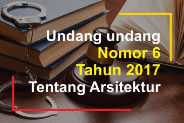 [Ebook] Undang-undang No. 6 Tahun 2017 tentang Arsitek